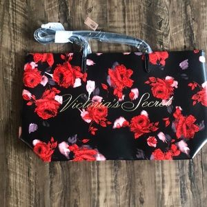 Victoria's Secret Floral Tote Red/Pink Brand New